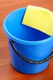 Blue Plastic Bucket And Napkin Stock Photography