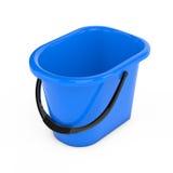 Blue Plastic Bucket. 3d Rendering Royalty Free Stock Image