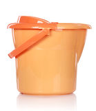 Blue plastic bucket Stock Image