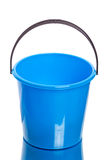 Blue plastic bucket Royalty Free Stock Photos