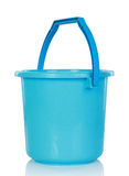 Blue plastic bucket Stock Photos