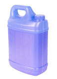 Blue plastic canister Stock Photo
