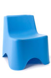 Blue plastic chair isolated on white Royalty Free Stock Images