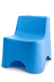 Blue plastic chair isolated on white Royalty Free Stock Photography