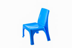 Blue plastic chair. Royalty Free Stock Photos