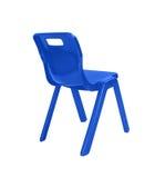 Blue plastic chair Stock Photo