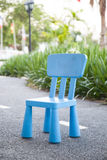Blue plastic chair Royalty Free Stock Photography