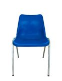 Blue plastic chair on white background Royalty Free Stock Images