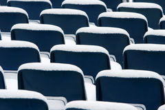 Blue plastic chairs Royalty Free Stock Photography