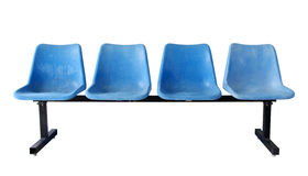 Blue plastic chairs isolated on white Stock Photography