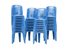 Blue plastic chairs Stock Image