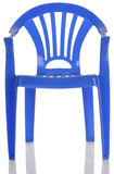 Blue plastic child chair Stock Images