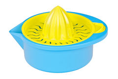 Blue plastic citrus squeezer Royalty Free Stock Photo