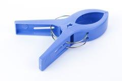 Blue Plastic clamp Stock Image