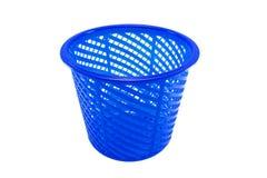 Blue plastic. Close up shot of Blue plastic basket on isolate white background Royalty Free Stock Photography