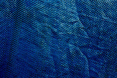Blue plastic cloth texture Stock Image