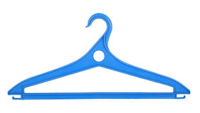 Blue plastic clothes hanger Royalty Free Stock Photos