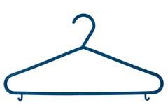 Blue plastic coat hanger Royalty Free Stock Photo