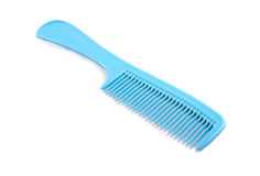 Blue Plastic Comb Stock Photography