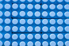 Blue plastic construction background Royalty Free Stock Photography