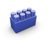Blue plastic construction element of the children designer Royalty Free Stock Photos