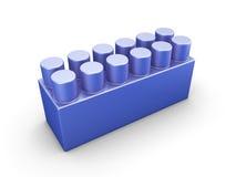 Blue plastic construction element Stock Images