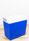 Blue plastic container on a floor Stock Photography