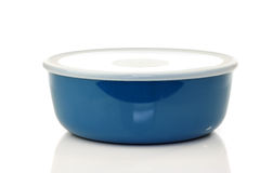 Blue plastic container for food storage Royalty Free Stock Photo