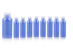 Blue plastic containers Royalty Free Stock Photography