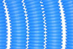 Blue plastic corrugated pipes Royalty Free Stock Photo