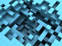 Blue plastic cubes Stock Images
