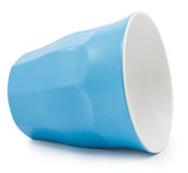 Blue Plastic Cup crash Stock Photography