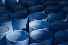 Blue plastic cup drink Royalty Free Stock Image