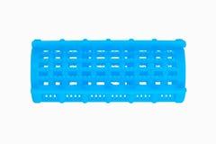 Blue plastic curler Stock Image