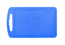 Blue plastic cutting board Royalty Free Stock Images