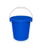 Blue plastic empty bucket with handle for cleaning and housekeeping Royalty Free Stock Image