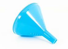 Blue plastic funne Royalty Free Stock Images