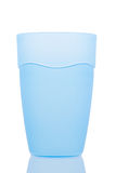 Blue plastic glass Royalty Free Stock Photography