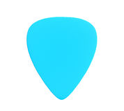 Blue plastic guitar plectrum Royalty Free Stock Images