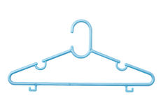 Blue plastic hanger Royalty Free Stock Image