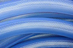 Blue plastic hose background. Detailed texture and pattern blue plastic hose Royalty Free Stock Photos