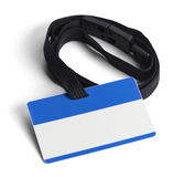 Blue Plastic ID Card. Blue ID Card with Copy Space  on White Background Royalty Free Stock Photography