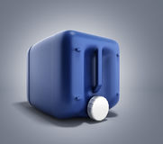 Blue plastic jerrycan 3d illustration on gradient background. Blue plastic jerrycan 3d illustration on gradient Royalty Free Stock Photos