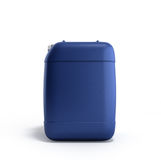 Blue plastic jerrycan 3d illustration on a white background. Blue plastic jerrycan 3d illustration on a white Stock Photo