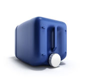 Blue plastic jerrycan 3d illustration on a white background. Blue plastic jerrycan 3d illustration on a white Royalty Free Stock Image