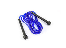 Blue plastic jump rope Royalty Free Stock Photos