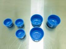 Blue Plastic Bowl stock image