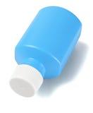 Blue Plastic Medicine Bottle Stock Image