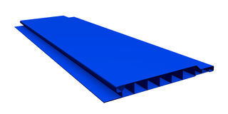 Blue plastic panel Stock Images