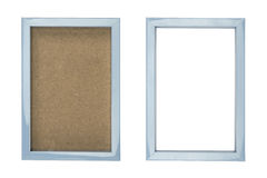Blue plastic picture frame Royalty Free Stock Images